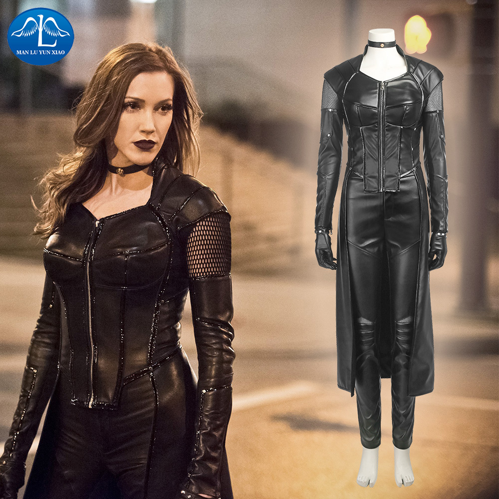 Green Arrow 5 Black Canary Costume Dinah Laurel Lance Cosplay Costume For Women Halloween Costumes For Women Leather Suit
