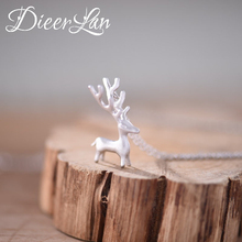 2017 New Arrivals Real 925 Sterling Silver Giraffe Deer Necklaces Pendant For Women Fashion sterling-silver-jewelry