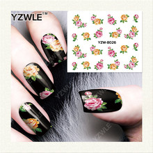 YZWLE 1 Sheet DIY Designer Water Transfer Nails Art Sticker / Nail Water Decals / Nail Stickers Accessories (YZW-8026)(China)