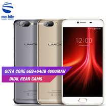 UMIDIGI Z1 Smartphone Android 7.0 MT6757 2.5D Arc Screen Octa core Mobile Phone 6GB RAM 64GB ROM 13+5MP Dual Rear Cams Cellphone(China)
