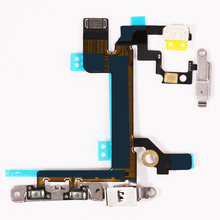 NEW Power Mute Volume Flex Cable For iphone 5S Button Switch On/Off Flex Replacement Part(China)