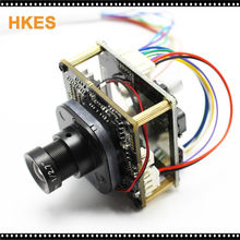High Resolution 2.8mm 16mm lens 1920*1080P 720P 960P HD POE IP camera module board with LAN cable