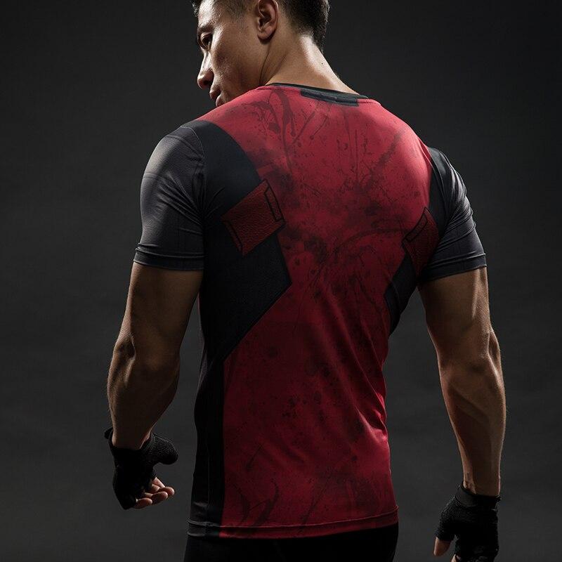Short Sleeve 3D T Shirt Men T-Shirt Male Crossfit Tee Captain America Superman tshirt Men Fitness Compression Shirt Punisher MMA 50