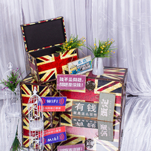 Britain wins the wedding props creative personality wooden decoration retro brand self advertising billboard