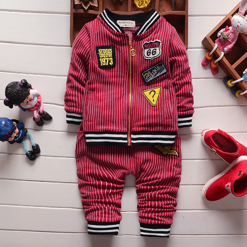 Spring baseball sets baby boy clothing 2017 new causal newborn baby suits 2pcs long sleeve letters striped cardigan jacket+pants<br><br>Aliexpress