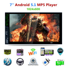 "7"" 2 Din Capacitive Touch Screen K9 4 Core Android 5.1 Bluetooth Car Mp5 Player 3G Wifi GPS Navigation Car Radio DVD FM/AM/RDS(China)"