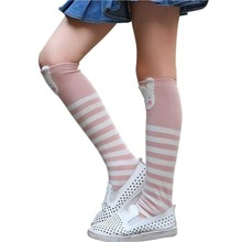 Children Girls Leg Warmers Cartoon Baby Girls Boys Knee-High Socks 2018 new Fashion Striped Dot Printed Tube Socks 3Y-12Y