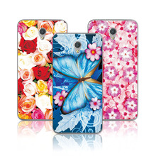 "ZTE V7 Floral Art Painted Flower Case For coque ZTE Blade V7 Case Cover 5.2"" Soft TPU Capa fundas ZTE V7 V 7+Gift"