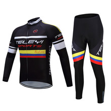 Hot selling Bicycle Jersey Long Sleeve Anti-sweat MTB Road Bike Cycling Jersey Sets Cheap Sports Ropa Quick Dry Bicicleta Clothe