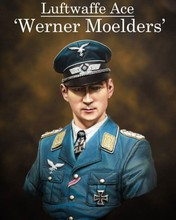 1/10 Scale Resin Bust WW2 German Air Force Ace Werner Moelder Figure Model Kit Free Shipping(China)
