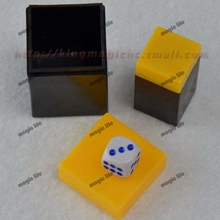 Thousand mile eye Gamble Dice Talking Dice Dice Capsules magic dice magic trick 5pcs each lot