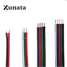2PIN 3PIN 4PIN 5PIN RGB RGBW extension cable cord 1m/10m/20m/100m Power Cable wire 22AWG Free shipping