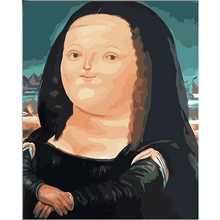 Cartoon Edition Mona Lisa Picture Painting By Numbers Wall Art DIY Digital Canvas Oil Painting Home Decor For Living Room w31(China)