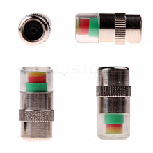 4 PCS/Lot 2.4Bar Car Auto Tire Pressure Monitor Valve Stem Caps Sensor 3 color Indicator Eye Alert Diagnostic Tools Kit(China)