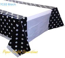 108*180cm Black Polka Dots Plastic TableCloths Table Cover Halloween Kids Birthday Party Decorations