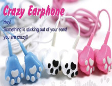 Cat Claw Cartoon Earphone anime headset Headphone For iPhone Samsung Galaxy Note pk hello kitty for kids baby gift earphone
