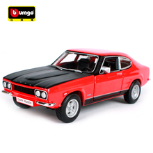 New Maisto Bburago 1:32 1970 FORD Capri RS2600 Retro Classic Car Diecast Model Car Toy New In Box Vintage Car Gift Free Shipping(China)