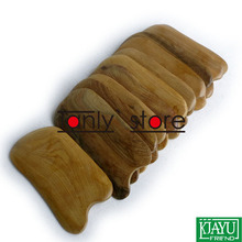 Gift gua sha chart & bag! Wholesale scented wood massage guasha kit Scrapping plate 2pcs/lot (105x55mm)