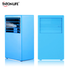 TINTON LIFE SUMMER BLUE Portable Electric Fan Can Add Ice Energy Efficient Table 110-240V Mini Fans Cooling The Air