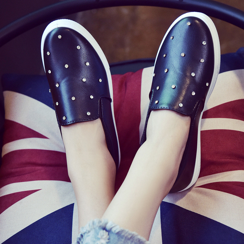 2016 Spring Canvas style Female Korean Student Influx Of Black And White Shoes, Casual shoes, Flat ShoesTo Help Low<br><br>Aliexpress