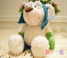 Discount Hot Sale Nici plush toy stuffed doll Skiing sports white Bear valentine day christmas gift  35cm 1pc