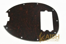 KAISH  Bass Pickguard MusicMan Stingray MM4 Scratch plate for  Music Man MM2 4 String Guitar Parts Red Tortoise