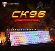 Motospeed CK96 USB Wired Standard Mechanical Keyboard 104 Keys for Pro Gaming Computer with RGB LED Backlit Teclado PK CK104(China)