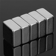 10pcs 10 x 10 x 5mm Square Block N52 Magnet Rare Earth Magnet DIY Permanent Magnet Powerful Hard to apart away