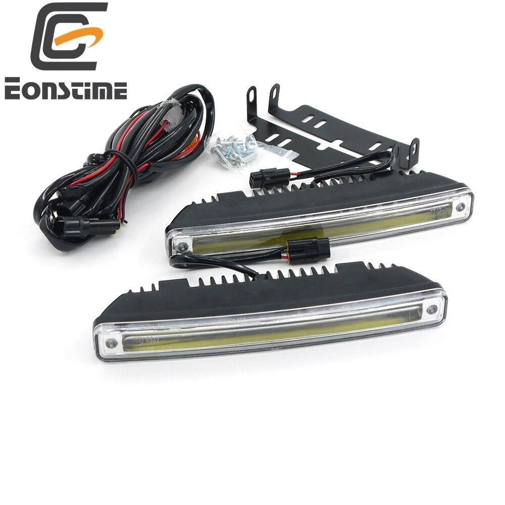Eonstime 18CM 2pcs 8W COB LED Daytime Running Light Day Light Led Car Waterproof DRL Auto Driving Lamp External Light 9V-30V<br><br>Aliexpress