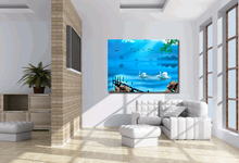 One piece canvas wall art  Blue canvas painting Contemporary bedroom set  Wall decor home  Room decoration