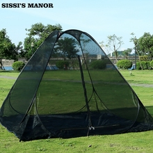 Super large space three four people rest meditation anti mosquito net outdoor automatic tent free install pop tent