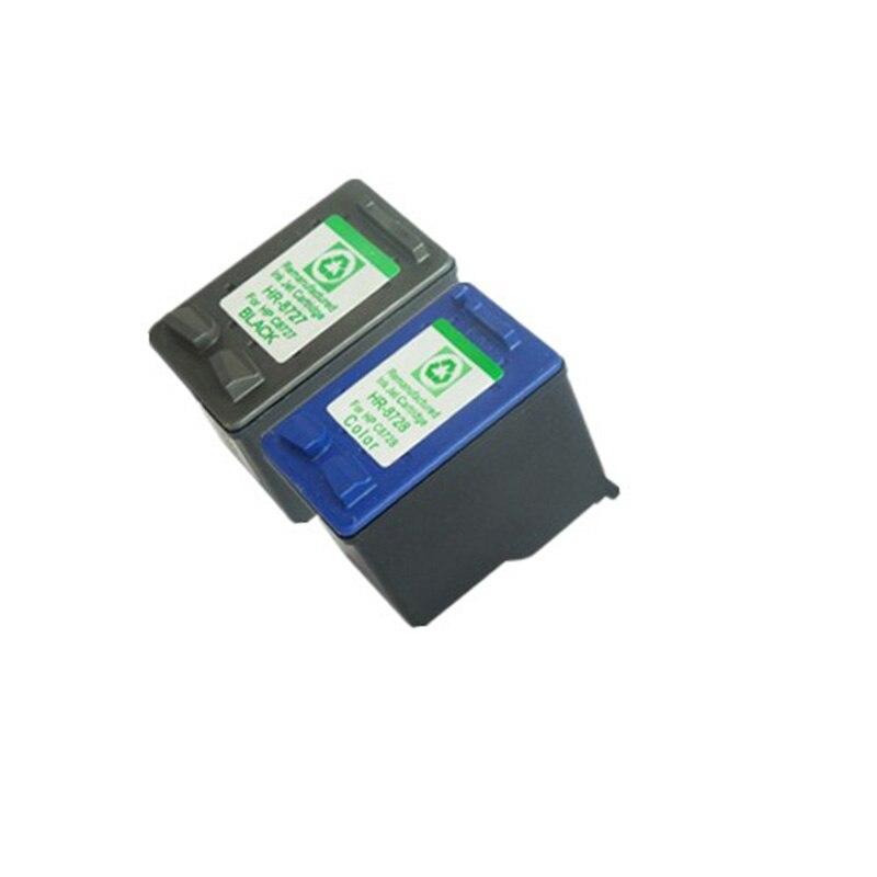 1 Set Remanufactured Cartridge For HP27 HP28 HP 27 28 For HP Deskjet 3320 3325 3400 3420 3425 3450 3520 3840 3650 inkjet printer<br><br>Aliexpress