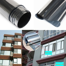 MIRROR SILVER 20% SOLAR REFLECTIVE WINDOW FILM ONE WAY PRIVACY TINT ( 50cm x  2m / 50cm x 4m )