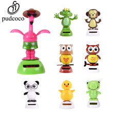 Pudcoco Hot Solar Powered Cute Dancing Animal Swinging Animated Bobble Dancer Toy For Home Desk Office Car Decoration Gift(China)