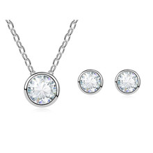 Xingzou Brand Women Design Zircon Jewelry Set Female Pendant Necklaces Stud Earrings Sets Made with Swarovski Element