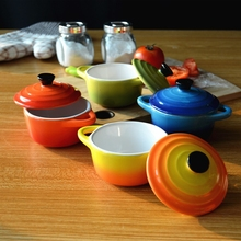 150 ml Colorful mini Ceramic casserole ceramic ramekin with lid