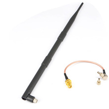 4G LTE Antenna 9dB 3g 4g lte Aerial SMA Plug for Huawei + SMA Female to TS9 and CRC9 two ways RG316 Coaxial Cable