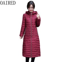 OAIRED Plus Size 4XL Winter Parka Women 2017 New Winter Coat Women Jacket Log Slim Thickening Parkas Coats Female Outerwear Red