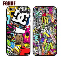 Marvel Sticker Bomb cell phone hard Cover Case for iphone 4s 5/5s 5c se /6/6plus 7 7plus 8 8PLUS(China)