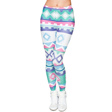 New 3D Print Women Leggings Aztec Green Jeggings Sexy Leggins Elastic Pants Fitness Legging Punk Rock Calzas Mujer legins girls(China)
