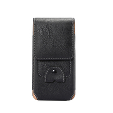Universal Leather Waist Bag for 4.7 To 5.1 Inch Phone Vintage Elephant Grain Belt Bag Phone Case with Card Slot Free Shipping(China)