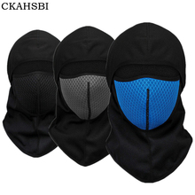 CKAHSBI Cycling Winter Fleece Warm Full Face Cover Anti-dust Windproof Ski Mask Snowboard Hood Bike Thermal Balaclavas Scarf(China)
