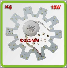 Wholesale 120V 220V 230V 240V Dia225mm DIY 18W led down lights led circular panel LED pcb equal to 40W fluorescent 2D tube