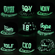 Party Korean men and women GD luminous cap hat TFBOYS hat EXO fluorescent genius Baseball Cap Hat flat light dance(China)