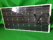 Excellent performance 100w solar panels, semi-flexible, to adapt to a variety of situations(China)