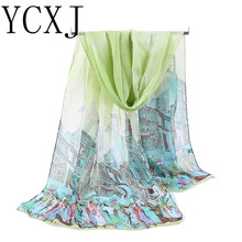 Womens Girl long Scarf soft Silk High Quality Cheap Price New Womens Girl long Scarf soft Silk Chiffon Wrap Shawl Pashmina Scarv(China)