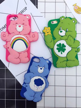 2017 New 3D Cute Rainbow Bear Coque Case For iphone 7 7plus,Soft Silicone Phone Back Cover For iPhone 6 6S plus Case+Gift(China)