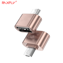 RAXFLY Micro USB OTG Adapter Samsung Huawei Male 2.0 Converter Xiaomi Sony Android Phone - OfficialFlagship Store store
