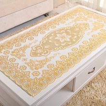 table cloth europe gold stamping pvc table cloth waterproof  disposable plastic tea cloth dining table cloth home decoration