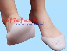 by dhl or ems 100 pairs Soft Silicone Gel Girls Boys Professional Toe Caps Ballet Pointe Dance Shoe Pads(China)